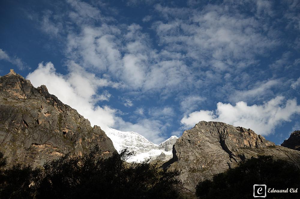 Montagne enneigée à Llanganuco