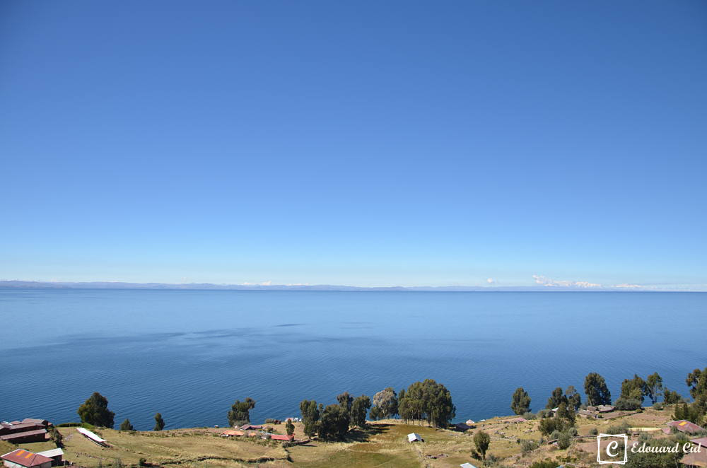 Le lac Titicaca vue de l'île de Taquile
