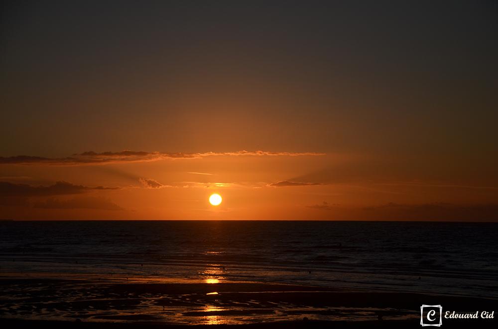 Coucher de soleil sur Cabourg
