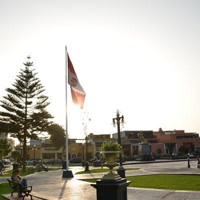 Drapeau péruvien à Pueblo Libre