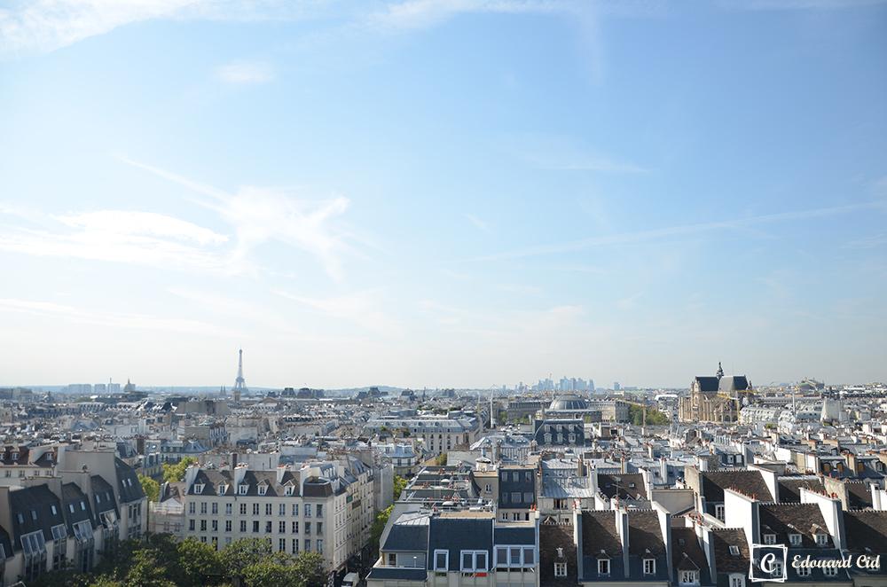 Sur les toits de Paris, vue sur la tour Eiffel