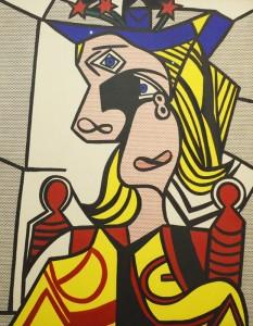 Femme au chapeau fleuri de Roy Lichtenstein