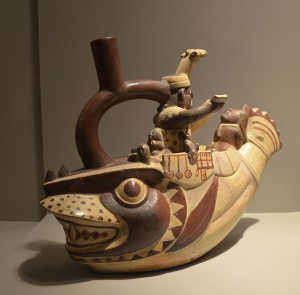 Céramique Mochica représentant le sacrifice des vaincus