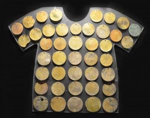 Chemise en cuivre doré, côté nord du Pérou