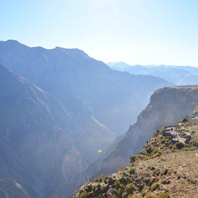 Poste de vue au canyon de Colca