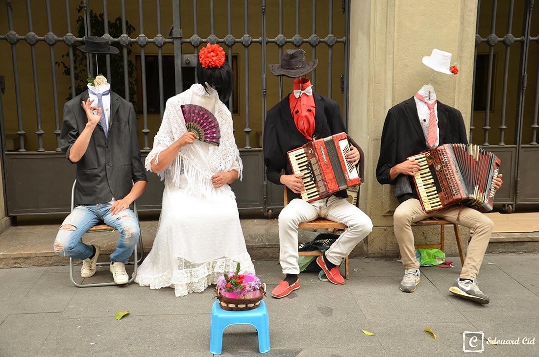 Flamenco dans les rues de Séville
