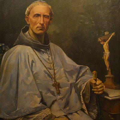 Tableau représentant un prêtre