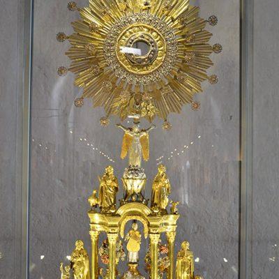 Ostensoir utilisé pour la  messe