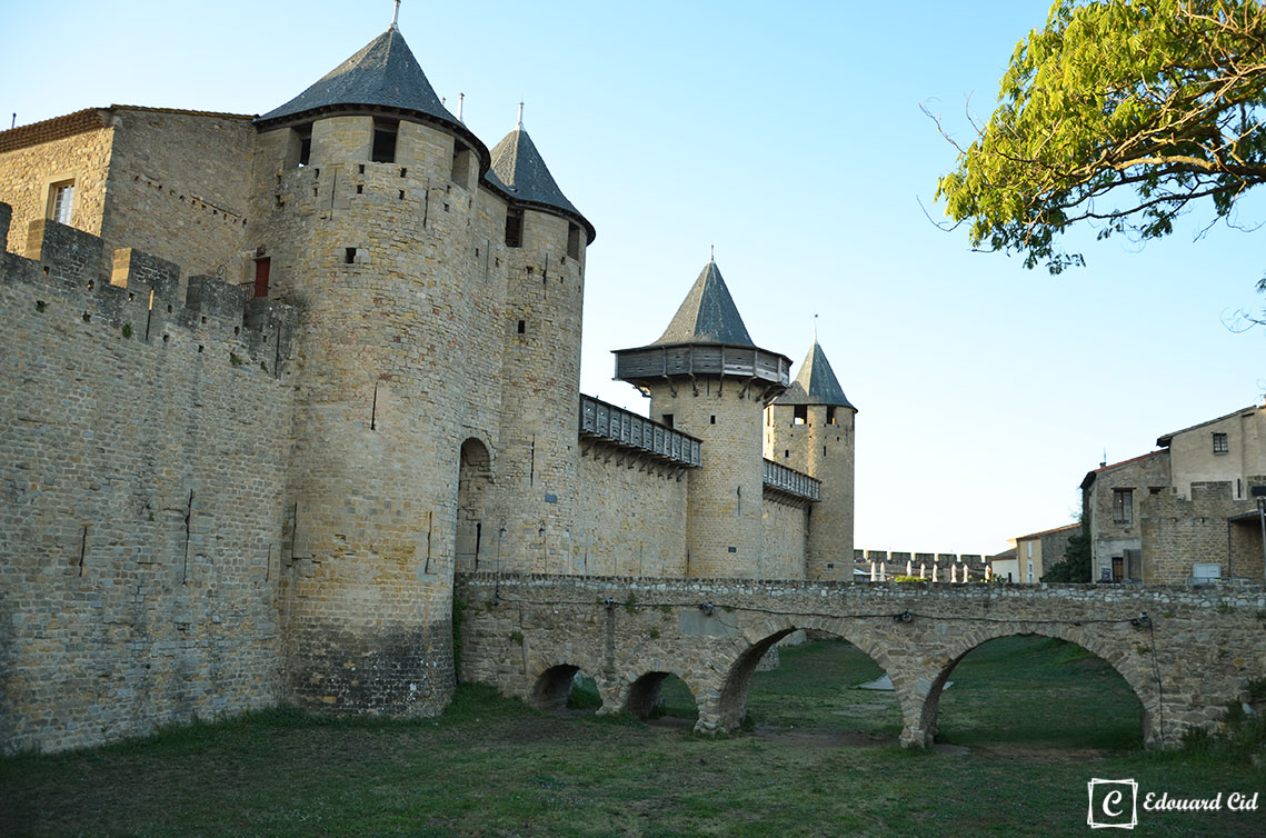 A l'intérieur du château de Carcassonne