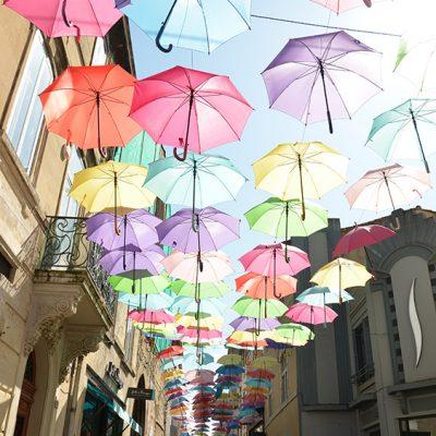 Parapluies à Carcassonne