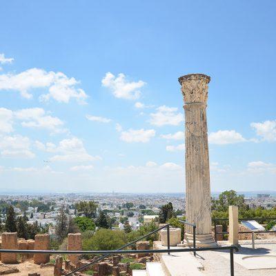 Quartier punique,vue sur Tunis