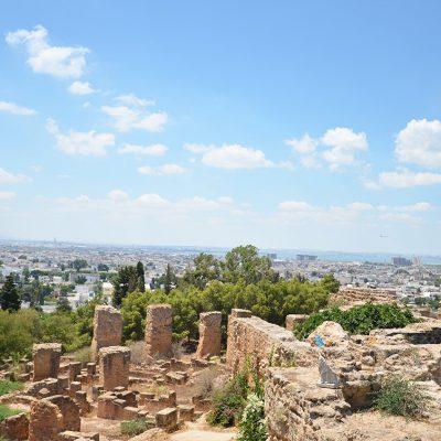 Quartier punique - Vue sur Tunis