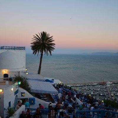 Vue de la mer à Sidi Bou Saïd