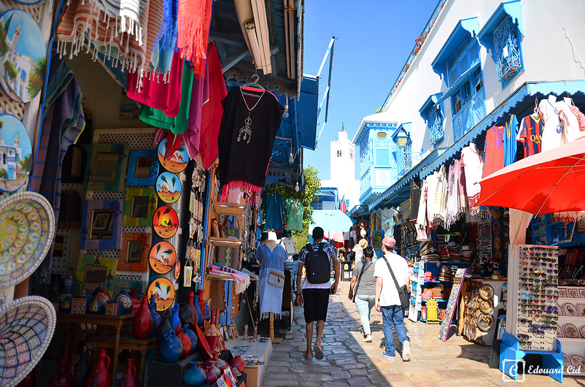 Les rues à Sidi Bou Saïd
